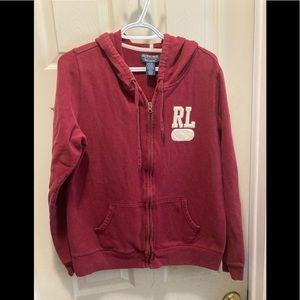 Ralph Lauren ladies XL zip up hoodie